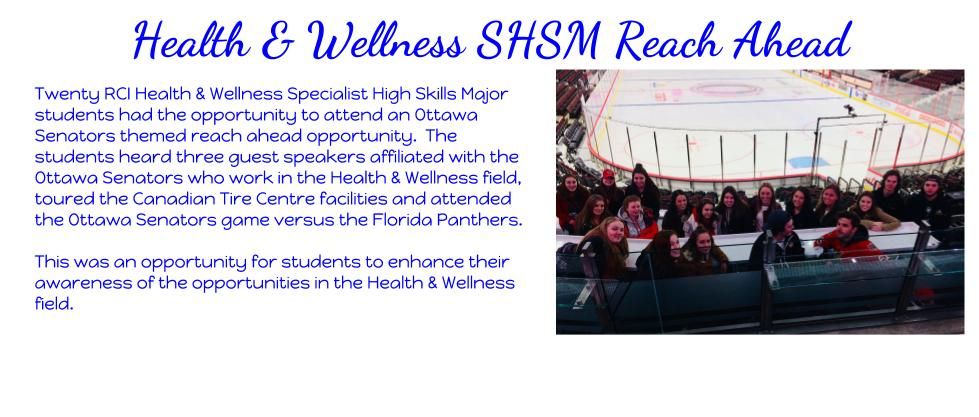 2018 Health and Wellness SHSM CTC